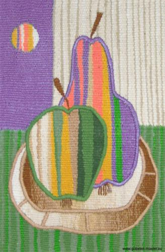 Pear and apple. Gobelin tapestries for kids room