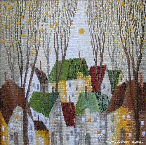 Small city. Gobelin tapestries for home or office
