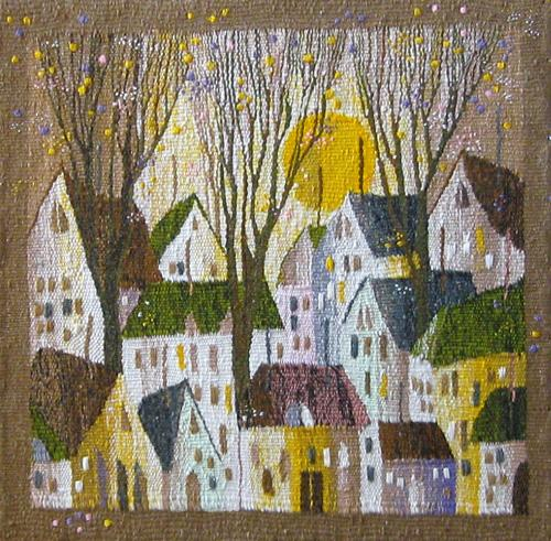 Autumn city. Gobelin tapestries for home or office