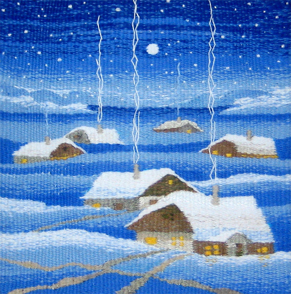 Winter evening. Gobelin tapestries for home or office