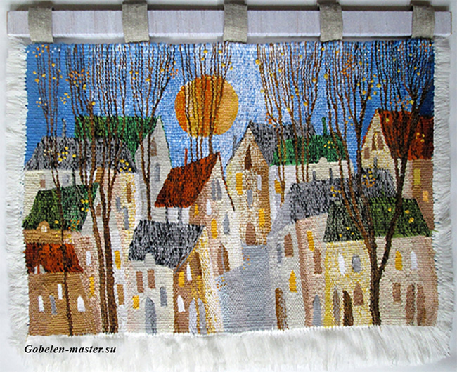 Autumn evening. Gobelin tapestries for home or office