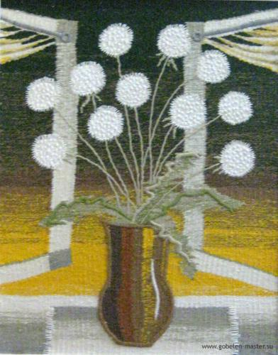 Dandelion still life. Gobelin tapestries for home or office