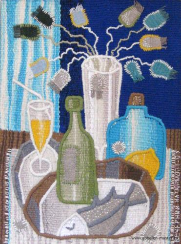 Evening still life. Gobelin tapestries for home or office