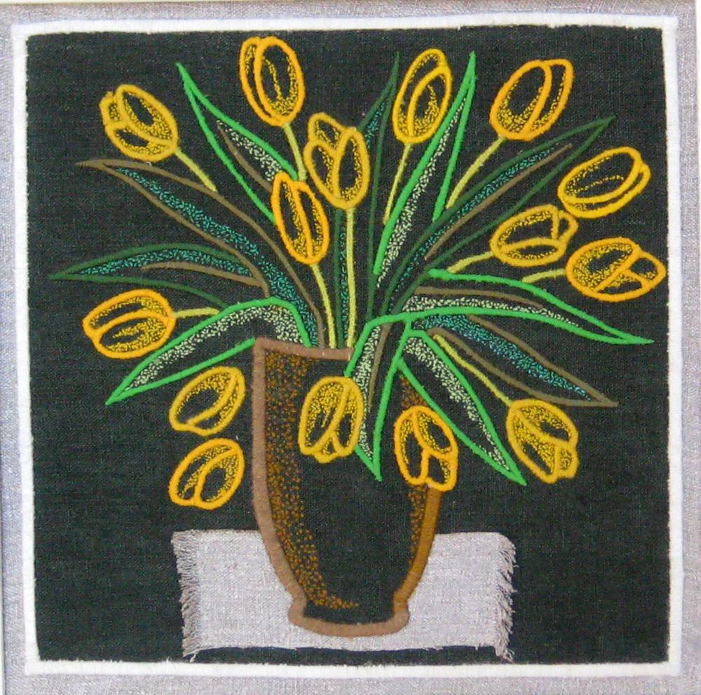 Tulips still life. Gobelin tapestries for home or office