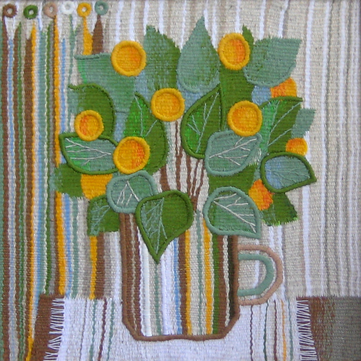Tangerine tree still life. Gobelin tapestries for home or office