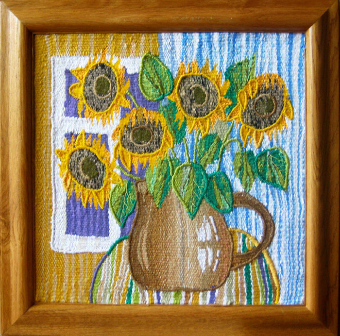 Sunflowers. Gobelin tapestries for home or office