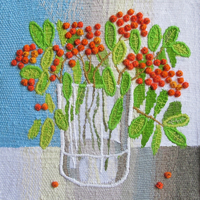 Mountain ash. Gobelin tapestries for home or office