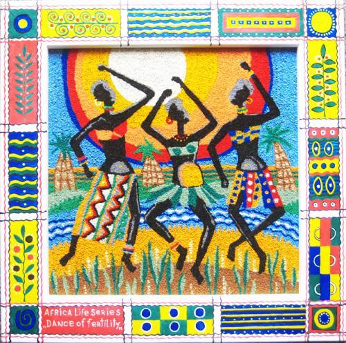 Dance of  fertility. Unweaved tapestry