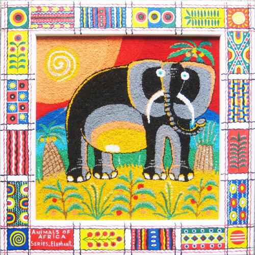 Elephant. Unweaved tapestry