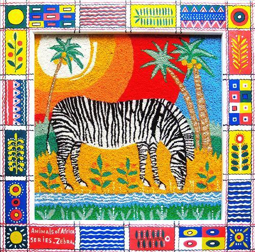 Zebra. Unweaved tapestry